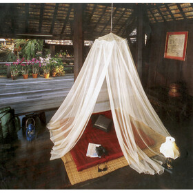 CAMPZ Canopy Red mosquitera, white